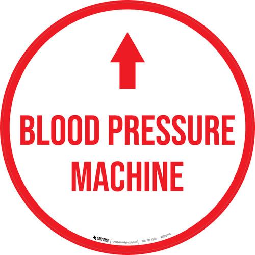 Blood Pressure Machine Arrow Straight Circular - Floor Sign