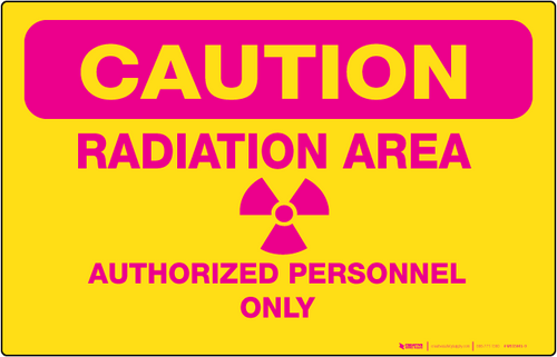 Radiation Area - Wall Sign