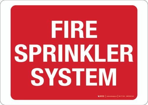 Fire Sprinkler System - Wall Sign