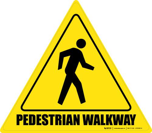 Pedestrian Walkway - Floor Sign