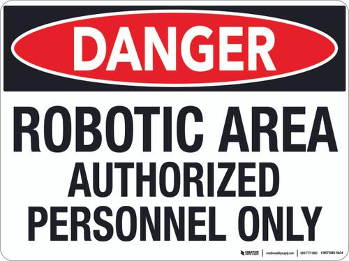Danger: Robotic Area - Floor Sign