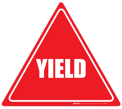 Yield (Red/White) - Floor Sign