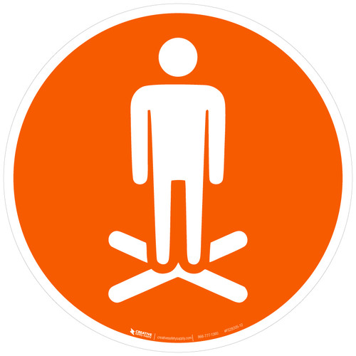 Stand Here Icon Only v2 - Floor Sign