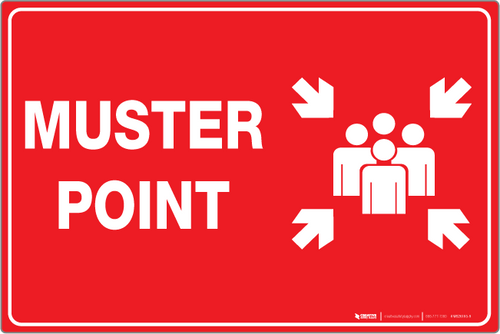 Muster Point (Red) - Wall Sign