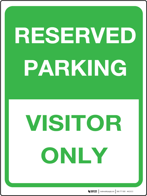 Reserved Sign - Wall Sign