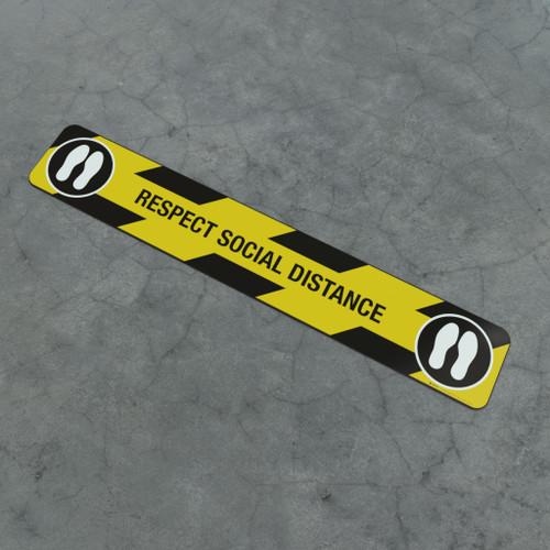 Respect Social Distance Feet Icon - Social Distancing Strip