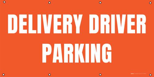 Delivery Driver Parking - Orange - Banner