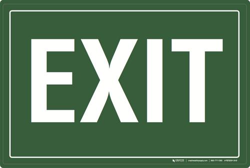 Exit (Green) - Floor Sign