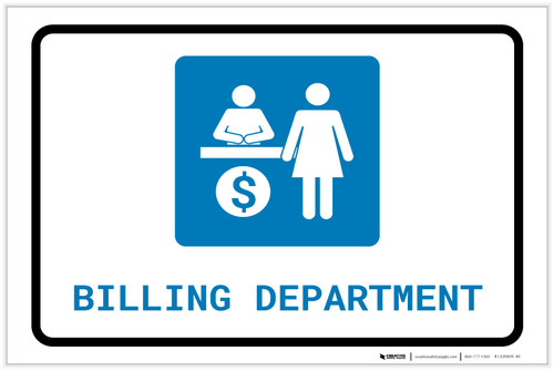 Billing Department with Icon Landscape - Label