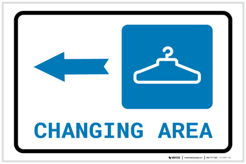 Changing Area Left Arrow with Icon Landscape - Label