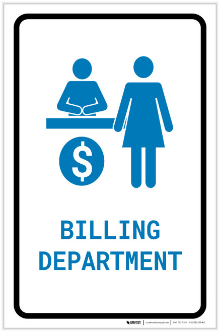 Billing Department with Icon Portrait v2 - Label