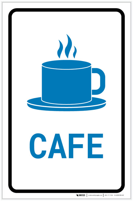 Cafe with Icon Portrait v2 - Label