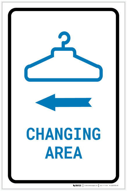 Changing Area Left Arrow with Icon Portrait v2 - Label