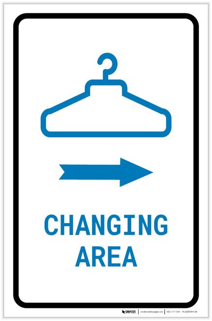 Changing Area Right Arrow with Icon Portrait v2 - Label