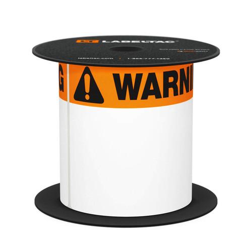 LabelTac 4 and Pro Model Die-Cut Warning OSHA Header Roll