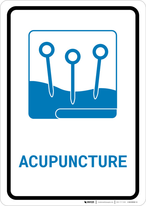 Acupuncture with Icon Portrait v2 - Wall Sign