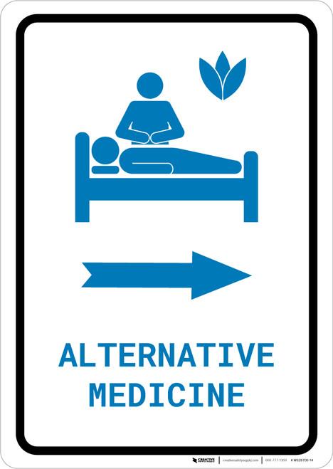 Alternative Medicine Right Arrow with Icon Portrait v2 - Wall Sign
