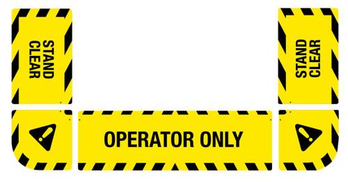 Hazard Area Floor Sign