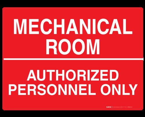 Mechanical Room - Wall Sign