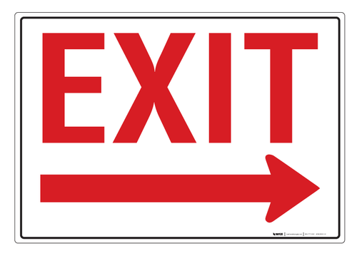 Exit (Arrow Right) - Wall Sign