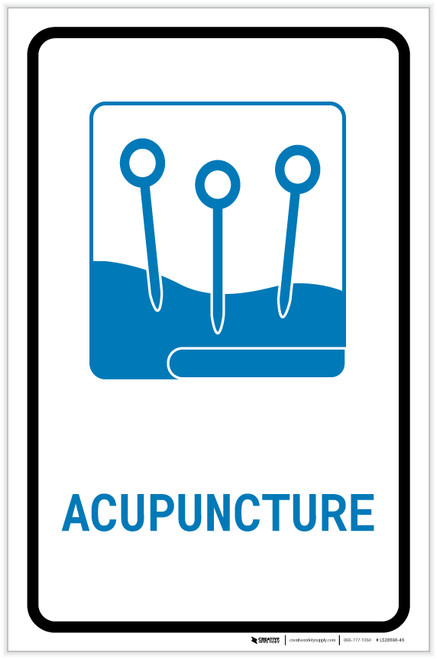 Acupuncture with Icon Portrait v2 - Label