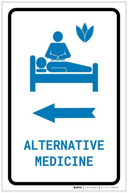 Alternative Medicine Left Arrow with Icon Portrait v2 - Label