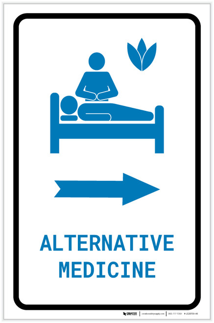 Alternative Medicine Right Arrow with Icon Portrait v2 - Label