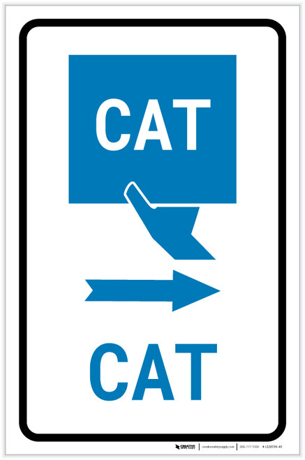 CAT Right Arrow with Icon Portrait v2 - Label