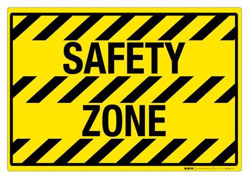 Safety Zone - Floor Sign