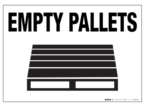 Empty Pallets - Floor Sign