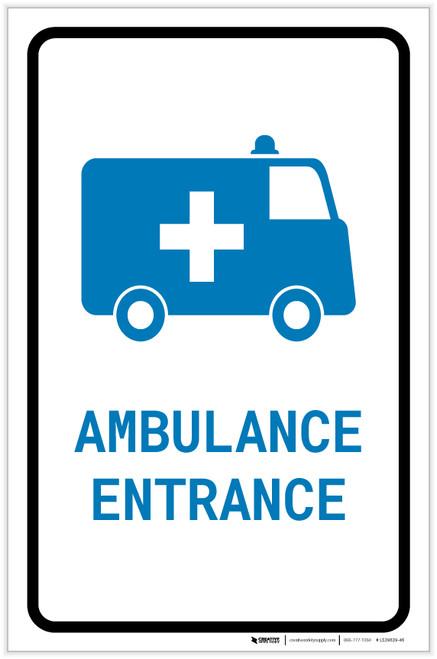 Ambulance Entrance with Icon Portrait v2 - Label