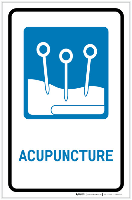 Acupuncture with Icon Portrait - Label