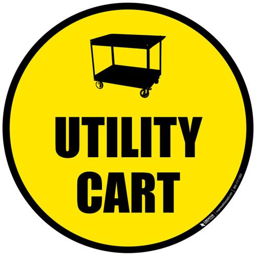 Utility Cart - Floor Sign