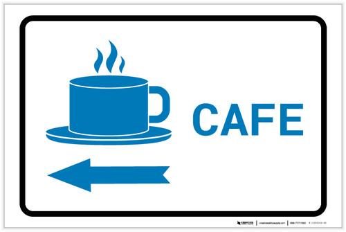 Cafe Left Arrow with Icon Landscape v2 - Label