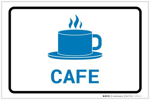 Cafe with Icon Landscape v2 - Label