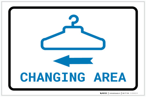 Changing Area Left Arrow with Icon Landscape v2 - Label