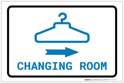 Changing Room Right Arrow with Icon Landscape v2 - Label
