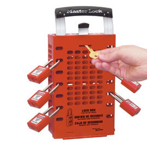 Master Lock Red Steel Group Lock Box