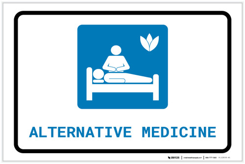 Alternative Medicine with Icon Landscape - Label