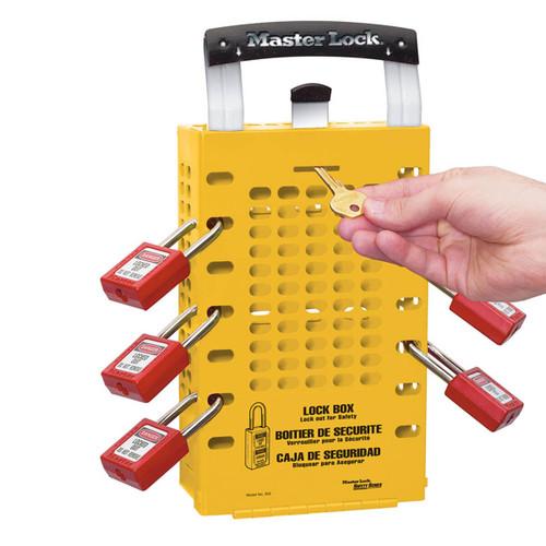 Master Lock Yellow Steel Group Lock Box