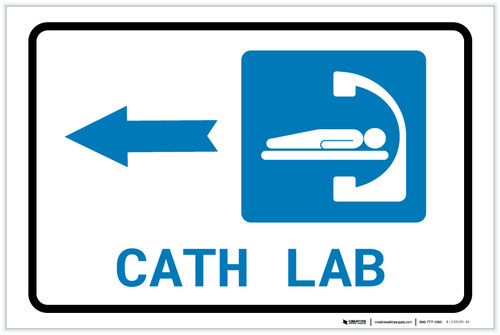 Cath Lab Left Arrow with Icon Landscape - Label