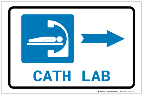 Cath Lab Right Arrow with Icon Landscape - Label