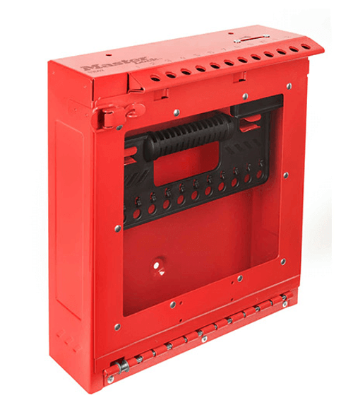 Master Lock Red Wall Mount Group Lock Box with Window