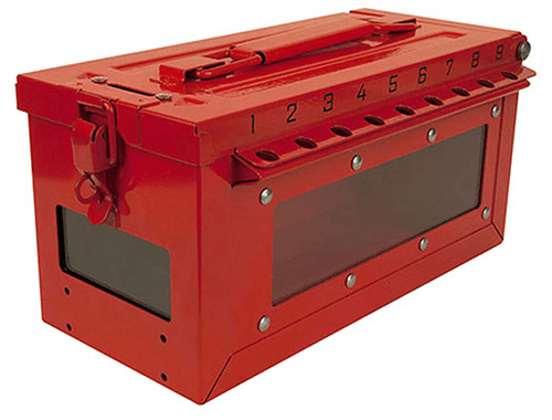 Master Lock® S601 Red Stainless Steel Group Lock Box