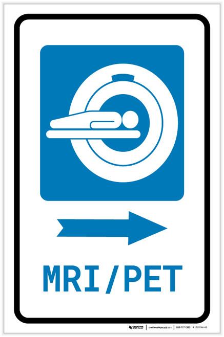 MRI/PET Scan Right Arrow with Icon Portrait - Label