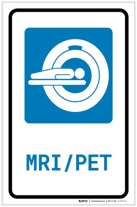 MRI/PET Scan with Icon Portrait - Label