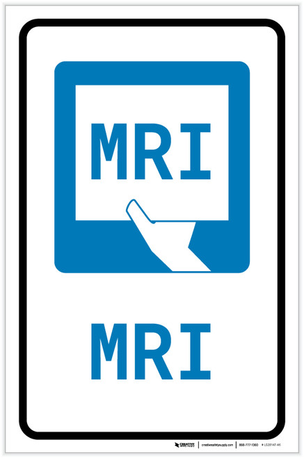 MRI with Icon Portrait - Label