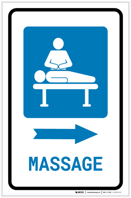 Massage Right Arrow with Icon Portrait - Label