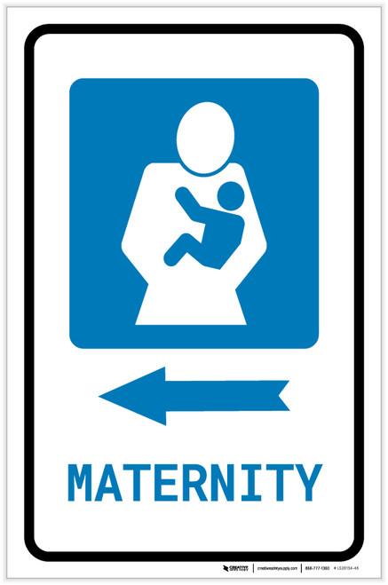 Maternity Left Arrow with Icon Portrait - Label