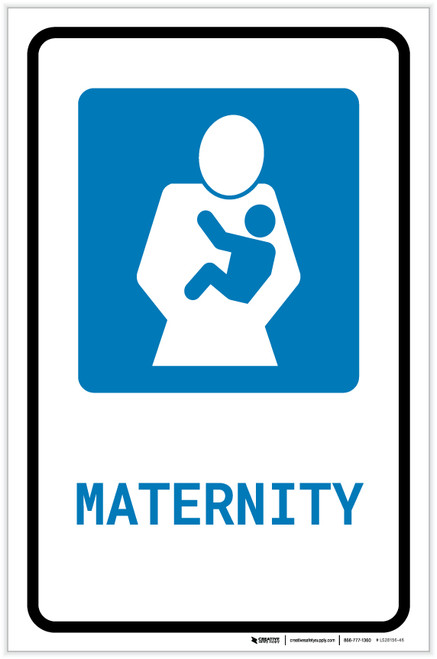 Maternity with Icon Portrait - Label